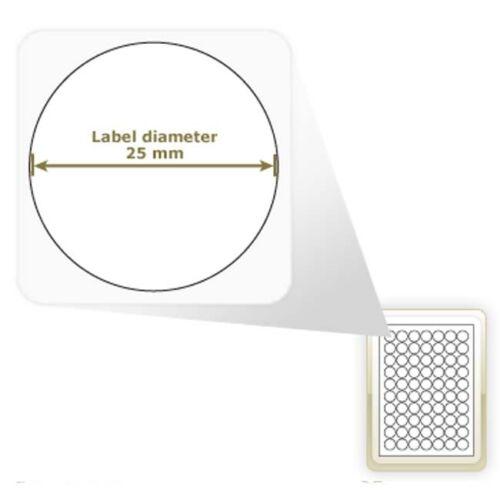 A4 Brillo Redondo Círculo Circular Etiqueta Papel Adhesivo Impresora Laser