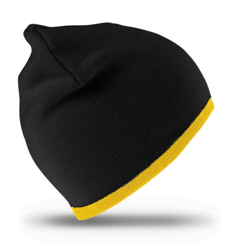 Result Reversible Fashion Fit Hat Mens Womens Winters Warm Beanie One Size Cap