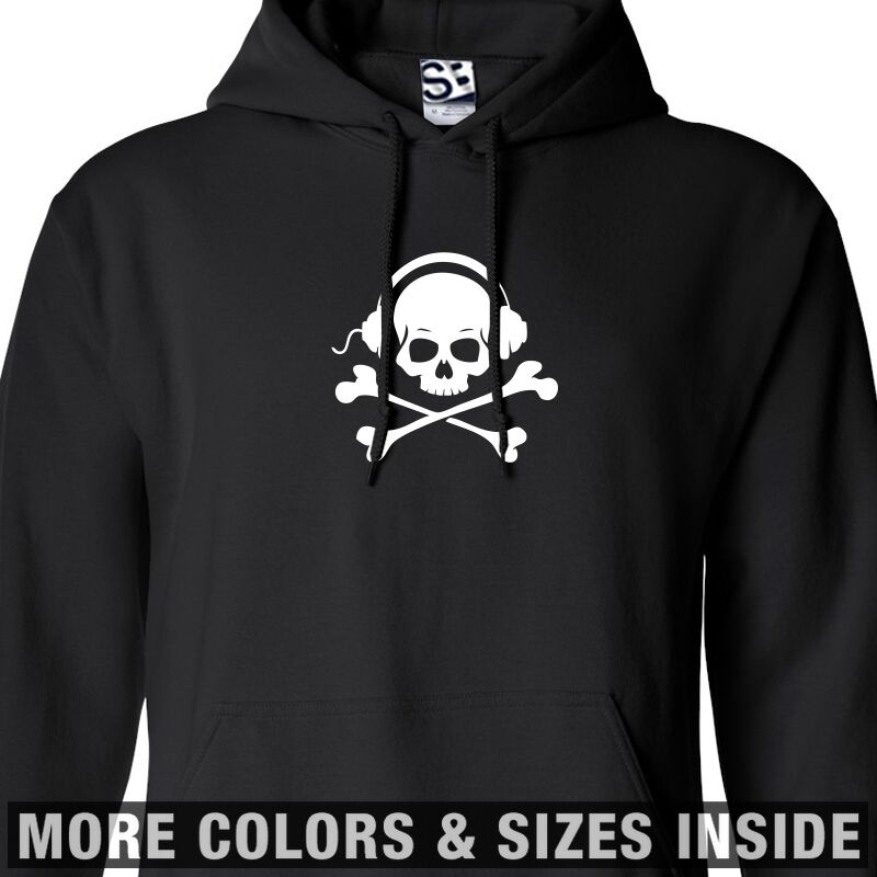 Skull & Phones HOODIE Bones Headphones Hooded Sweatshirt - All Größes & Farbes