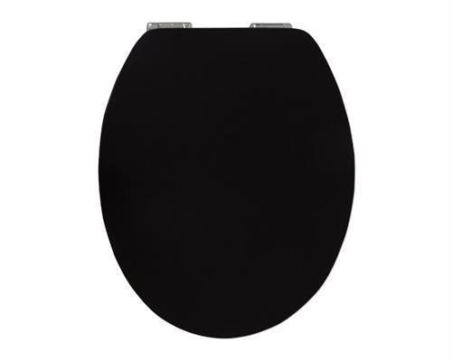 Sitzplatz WC-Sitz High Gloss Dekor Pure schwarz, Soft-Schließ Komfort