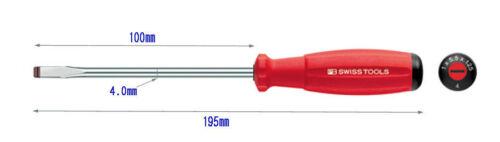 type Swiss PB Tools Flat Tip Grip Screwdrivers 8100 -