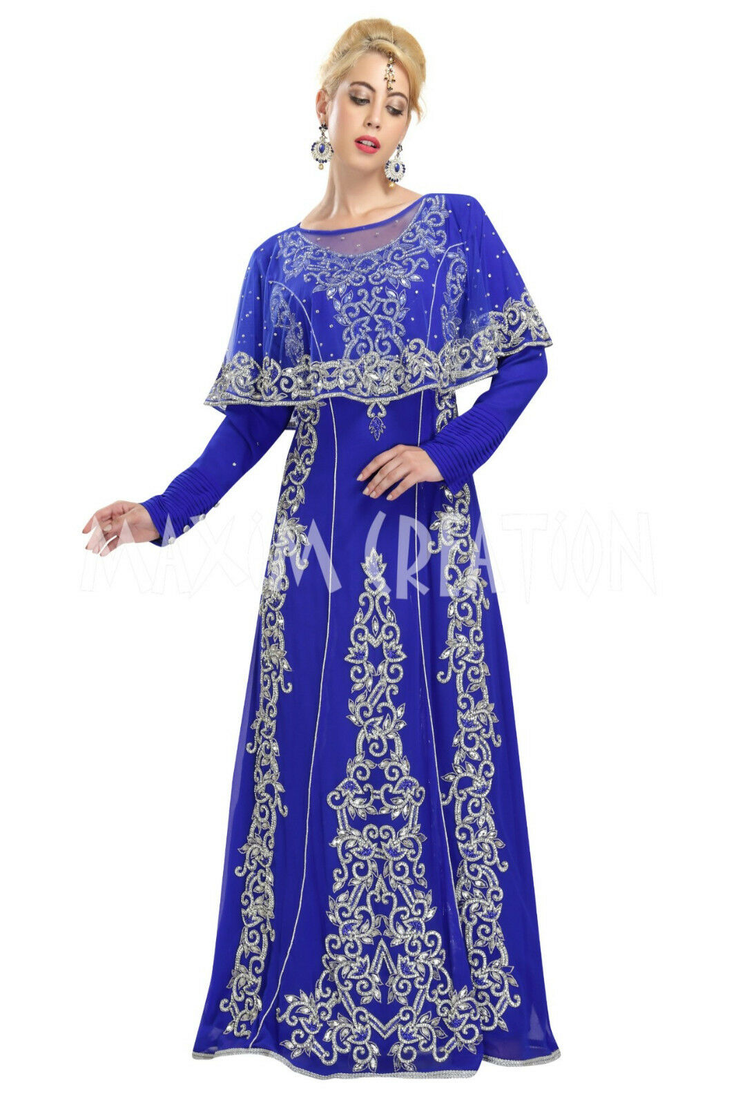 b42c8bdd803d ROYAL LUXURIOUS WEDDING GOWN MARRIED CAFTAN WITH HAND MADE EMBROIDERY 5843