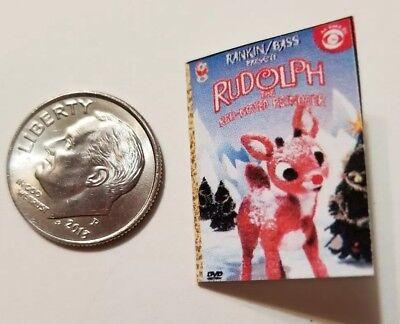 Miniature dollhouse Christmas Santa Rudolph book Barbie 1//12 Scale accessories Z