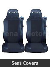 2 x VOLVO FH12 FH16 FL FM Coprisedili Fatti su misura HGV Camion Furgone Nera /