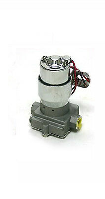 HIGH FLOW PERFORMANCE UNIVERSAL EXTERNAL ELECTRIC FUEL PUMP 130 GPH HOLLEY STYLE