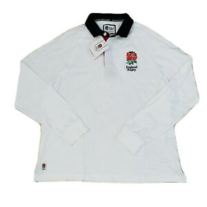 England-Rugby-Union-Football-White-Long-Sleeve-Jersey-BNWT-Size-XL