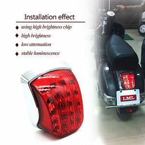 VESPA-LML-STAR-STELLA-DELUX-PX-125-150-200-CHROME-LED-REAR-LAMP-TAIL-LIGHT