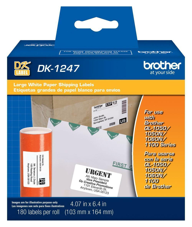 1 1//8 x 3.5 Die-Cut Standard White Paper Address Labels 24 Address Label Rolls CBDK1201 Bulk Compatible Paper Label Rolls DK-1201