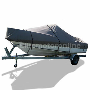 BLUE BOAT COVER FITS SEA RAY SEVILLE 19 CUDDY CABIN 1987