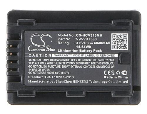BATTERIA 3.6V per Panasonic VXF-999 4040mAh Premium Cellulare Nuovo
