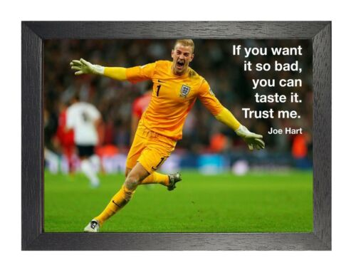 Joe Hart 10 English Football Player Poster Sport Premier League Motivation Quote