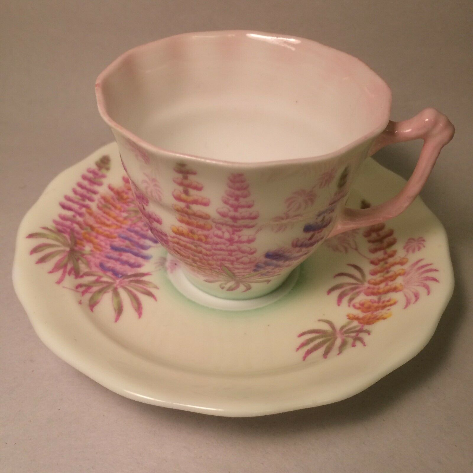 Vintage Old Royal Bone China Inner Rose Pattern 3484 Green Cup Saucer England For Sale Online Ebay