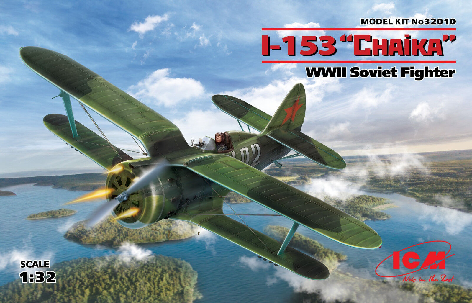 ICM 32010 WWII Soviet Fighter I-153 Chaika Chaika Chaika (100% New Molds) in 1 32 0ce139