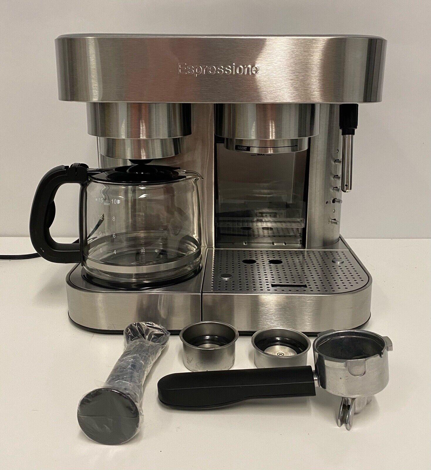 Espressione Em 1040 Machine Espresso And Coffee Maker Stainless Steel For Sale Online Ebay