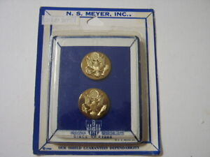 KY19-10 IN MEYER PACK ARMY SERGEANT MAJOR ENLISTED BOS COLLAR DEVICES PAIR 2