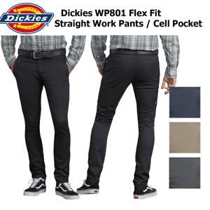 Dickies-Men-039-s-Flex-Skinny-Straight-Fit-Work-Pants