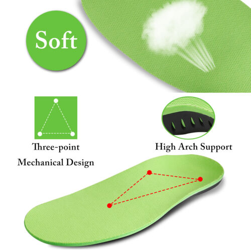 Orthotic Insoles Plantar Fasciitis Arch Support Flat Feet Foot Inserts Gel Pads