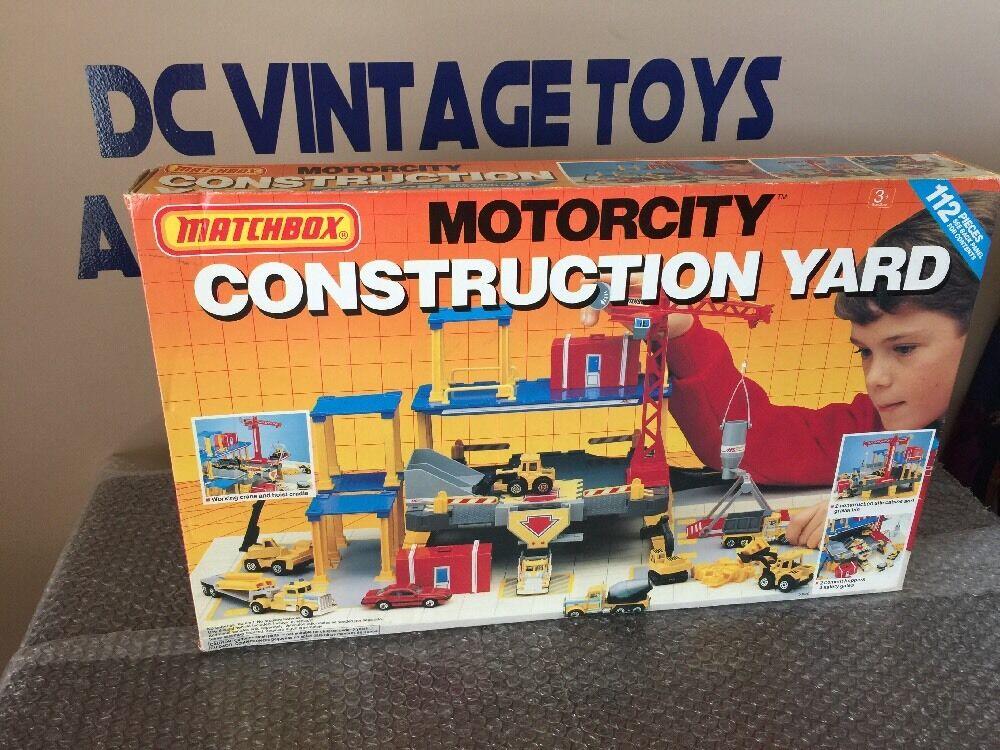 Vintage 1990 Matchbox Construction Yard Playset 100% SEALED