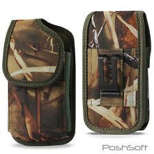 "Samsung Galaxy S8+ (""S8 PLUS"") Nylon Tactical Holster Pouch Case Belt Clip- CAMO"