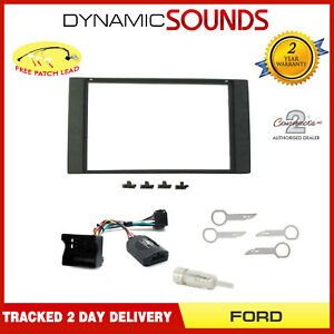 Car Stereo Double Din Fascia Steering Interface Kit Ford Transit MK7 2006-2013