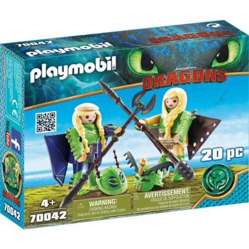 Konstruktionsspielzeug Playmobil PLAYMOBIL Raffnuss und Taffnuss mit Fluganzug