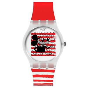 Swatch Keith Haring X Disney Mickey Mouse Mariniere Watch GZ352