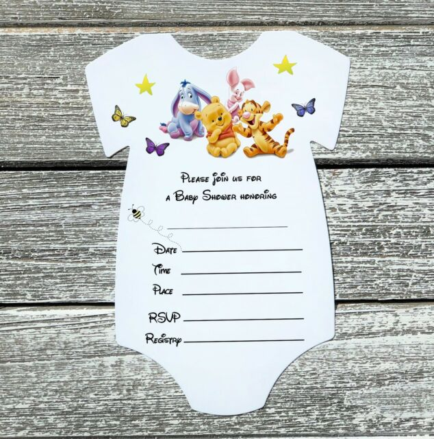 Pooh Baby Shower 10 Invitations