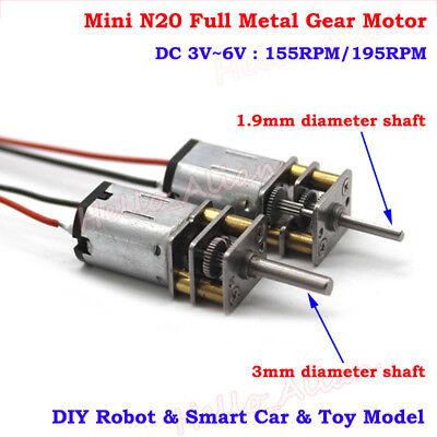 DC 3V N20 Micro Speed Reduction Motor For DIY Toys Hobbies Smart Car Mini Motors