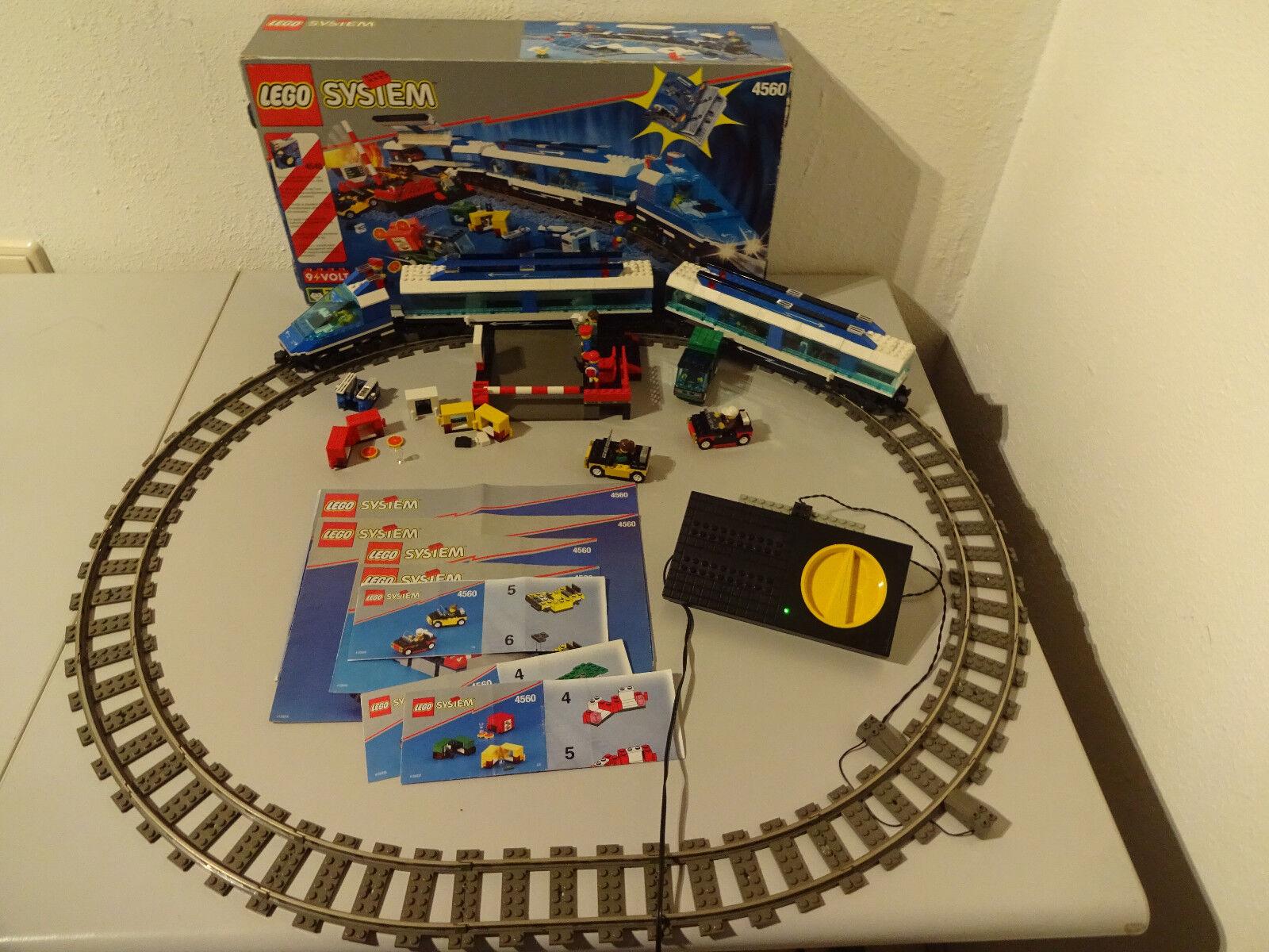 (TB)LEGO EISENBAHN 4560+4548 RAILWAY EXPRESS MIT OVP & BA 100% KOMPLETT 9 VOLT