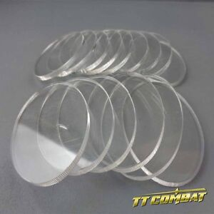 TTCombat - Oval Clear Cavalry Bases 15 (35 x 60mm)