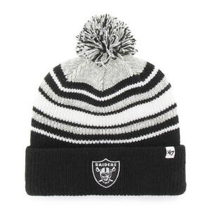 933d67a6d129a Oakland Raiders 47 Brand Knit Hat Beanie Bubbler Kid 190182775008