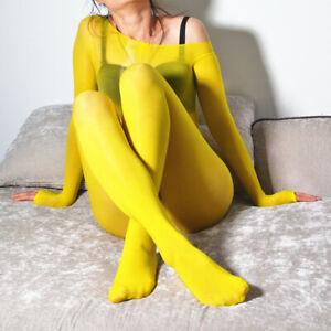 Unisex-Sheer-Shiny-Elastic-Bodystocking-Nylon-Tights-Bodysuit-Jumpsuit-Clubwear