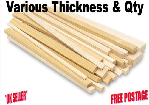 Various Thickness 1.6mm to 19.0mm. 150mm Balsa Wood Strip Arts Crafts