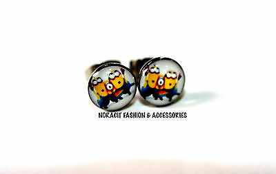 Oil Design Earrings - Stainless Steel Stud  *SURPRISE MINIONS* - ODE365