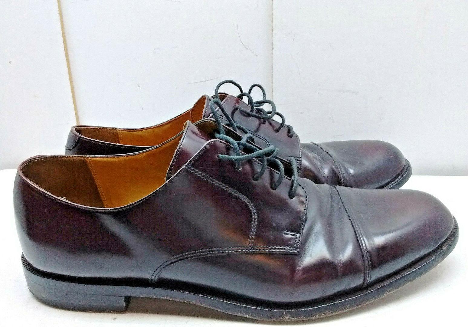 Cole Haan Bourgogne Cuir Oxford Cap Toe à Lacets Robe Formelle Chaussures Hommes 11.5 m