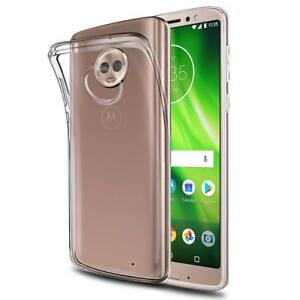 online store b6894 dd0fa Details about Motorola Moto G6 Case Silicone Shock Resistant Bumper  Transparent Cover Clear