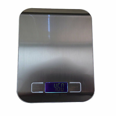 DIGITAL KITCHEN SCALE DIET FOOD POSTAL MAILING 5KG/11 LBS x 1 g ELECTRONIC