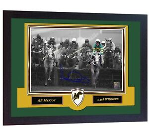 AP-McCoy-signed-Horse-Racing-photo-Jockey-printed-Tony-McCoy-Framed