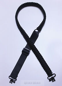 Adjustable-Paracord-Tactical-550-Rifle-or-Shotgun-Gun-Sling-Strap-With-Swivels