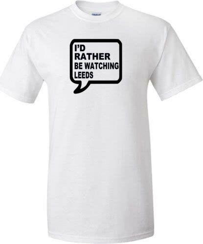 Leeds football t shirt away days rather or train sign t shirt