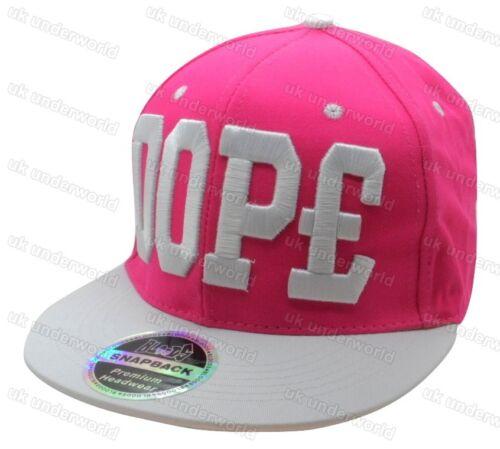 Mens Ladies Slogan Snapback Baseball Cap Retro Hip Hop Rap Adults Peak Hat