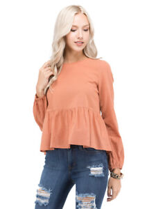 Ruffle Back Top Tie Bow Petalroz Top Y5qa1