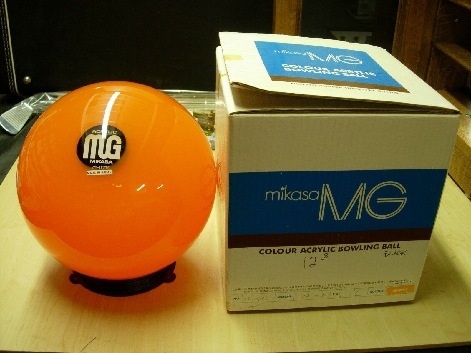 =12oz TW 3.5 2M-11735 Mikasa MG Colour Acrylic orange Bowling Ball Blk Center
