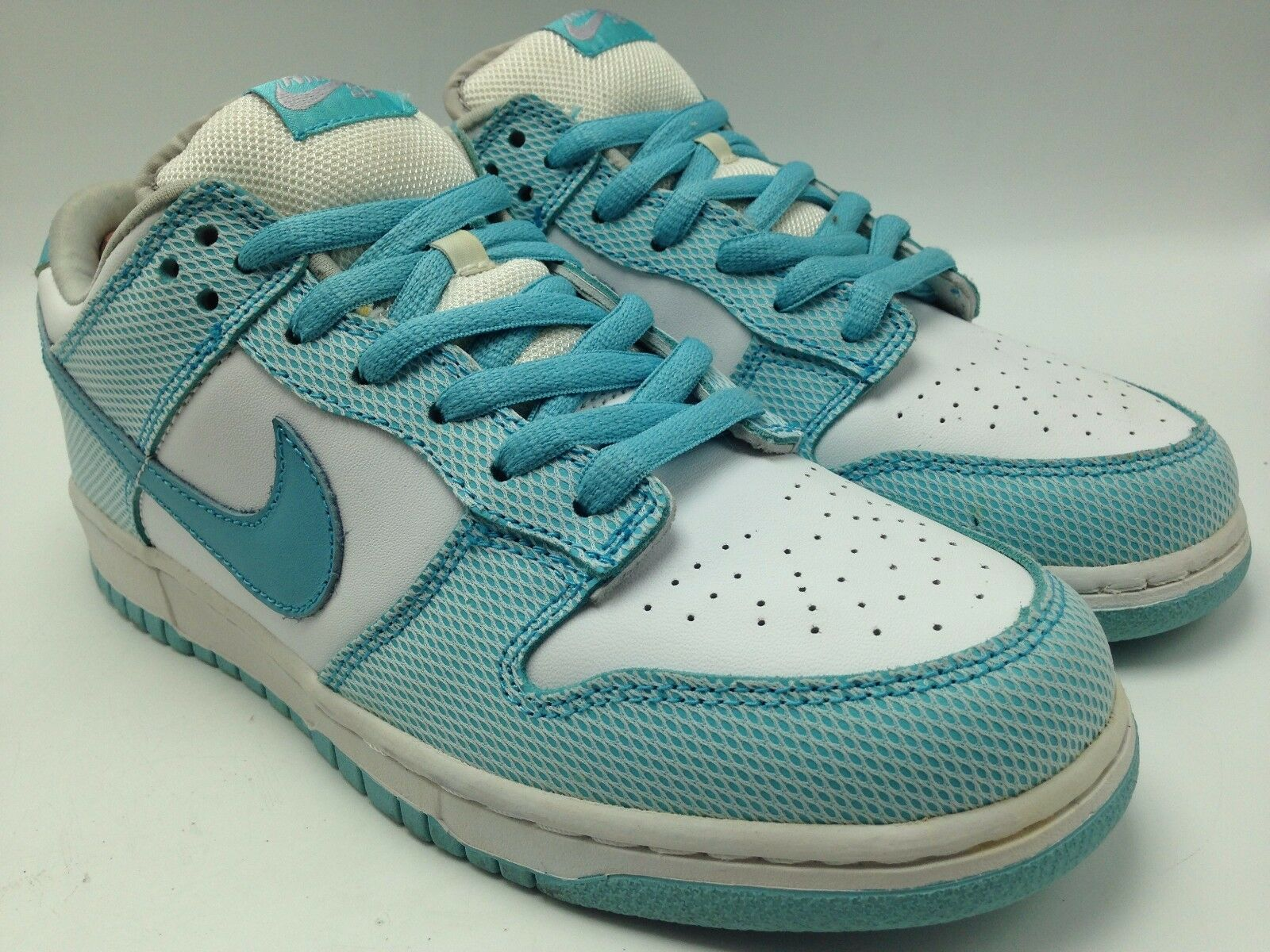 Nike Dunk Low Pro Casual Sneakers Aqua White Men Collector Bon Jovi shoes Sz 9