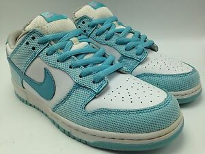 the best attitude c6ac5 f4cc9 Image is loading Nike-Dunk-Low-Pro-Casual-Sneakers-Aqua-White-