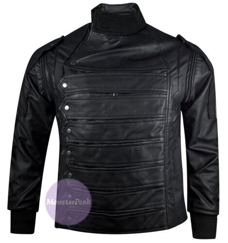 XXS to 5XL Bucky Barnes Winter Soldier Sebastian Stan Leather Jacket