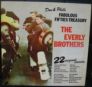 THE-EVERLY-BROTHERS-DON-amp-PHIL-039-S-FABULOUS-FIFTIES-TREASURY-LP-UK-ISSUE