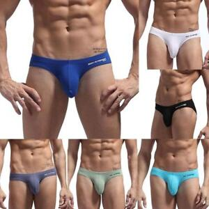 Fashion-Men-039-s-Low-Waist-Briefs-Bikini-Sexy-Underwears-Cotton-For-BRAVE-PERSON-amp