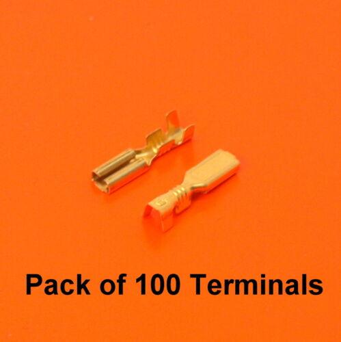 Paquete de alta calidad de 100 X 2.8mm terminales de alambre sin aislamiento Crimp hembra de latón