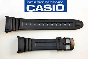 Genuine-Casio-ILLUMINATOR-Watch-Band-Black-Rubber-Strap-W-96H-1BV-W-96-2AVH